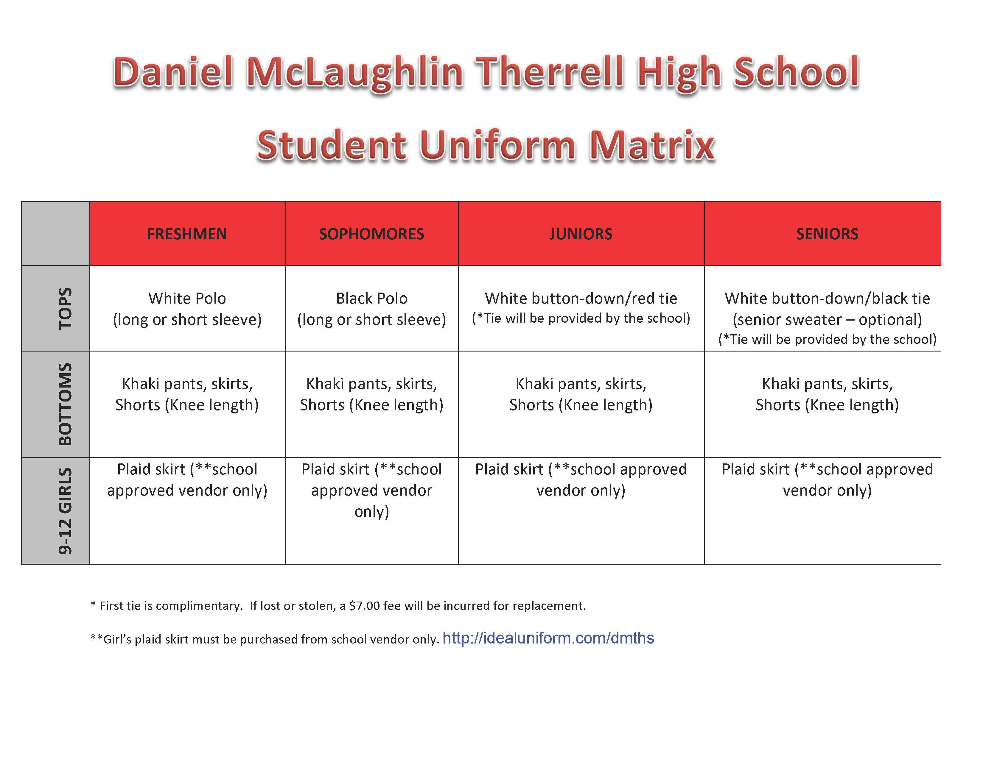 campus uniform matrix