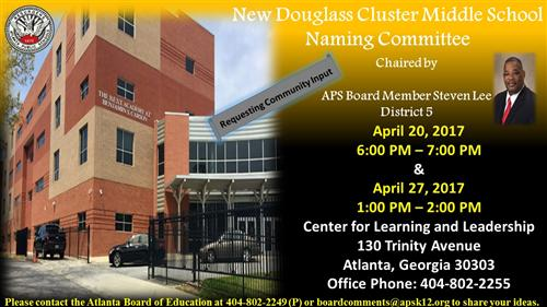 New Douglass Cluster Middle School Naming Committee Meeting