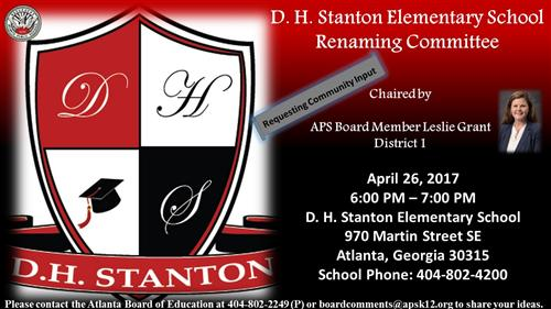 D. H. Stanton Renaming Committee Meeting