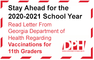 GA Department of Health Statement on 11th Grader Vaccinations