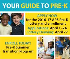 APS Pre-K lottery enrollment and summer transition program