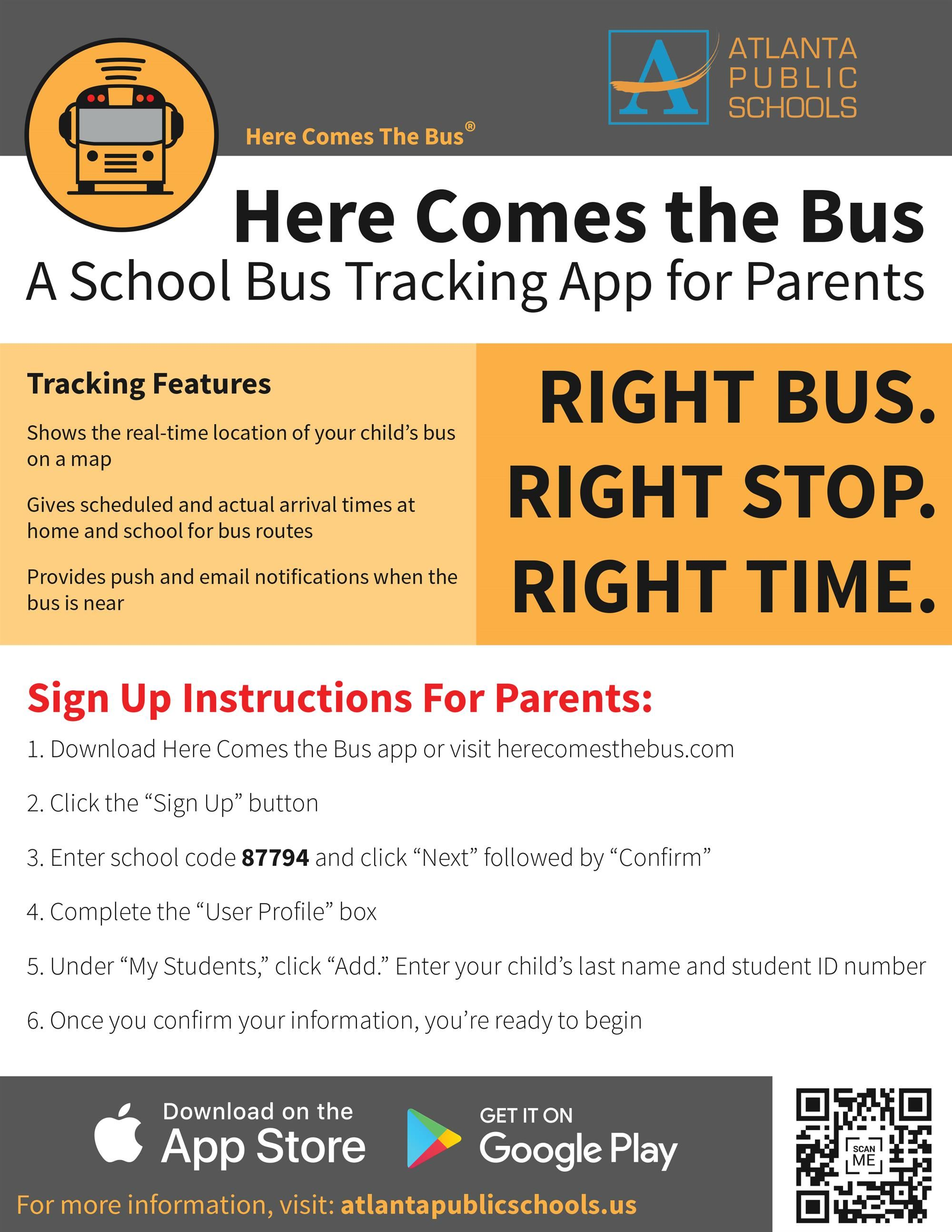 Here Comes the Bus Flyer