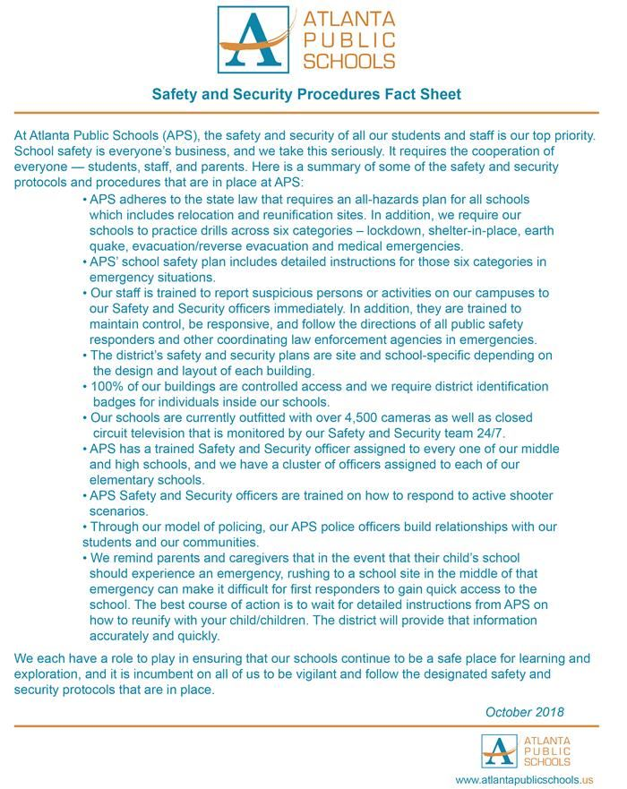 APS Safety Fact Sheet
