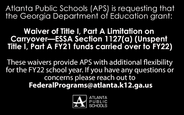 APS Title I Waiver Request Notice