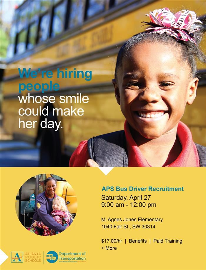 Bus Driver Recruitment Flyer