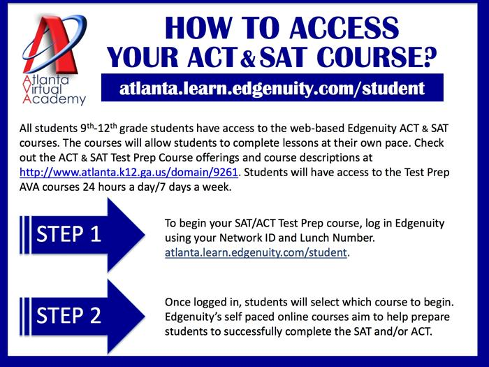 How To Access Your ACT & SAT Courses
