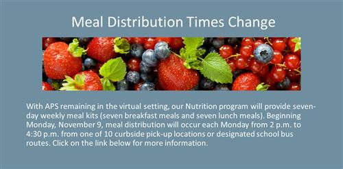 meal distribution times change