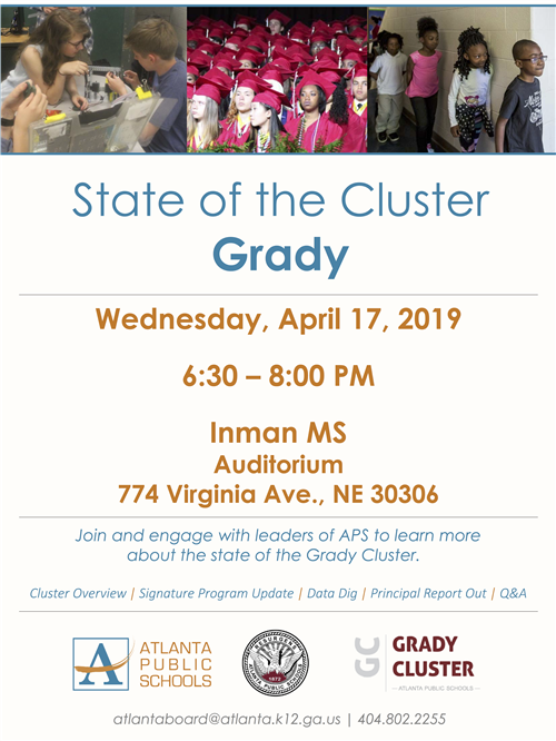State of the Grady Cluster April 17. 2019