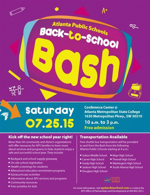 English Back to School Bash