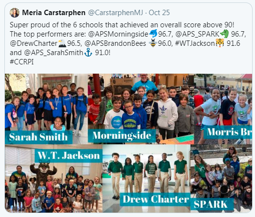 Supt. Carstarphen Tweet on Top Performers
