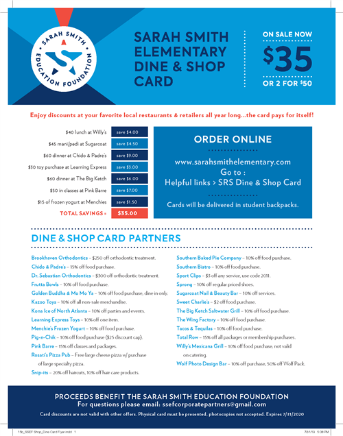 Dine and Shop Flyer