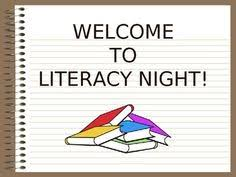 Literacy Night - 02/28 @ 6PM