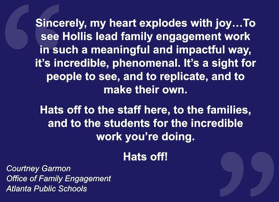 APS quote about Student-Led Conferences at Hollis Innovation Academy