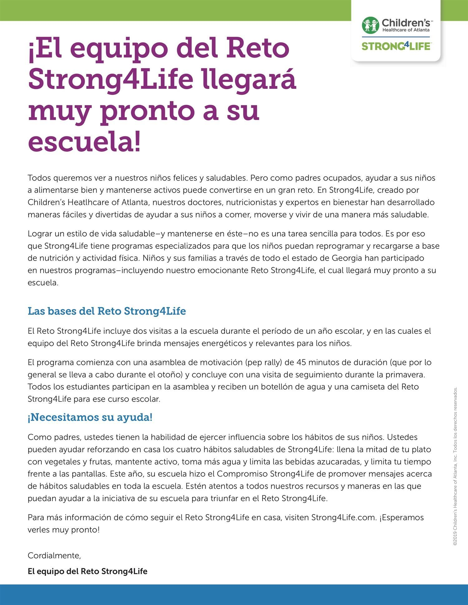 Strong4Life Spanish