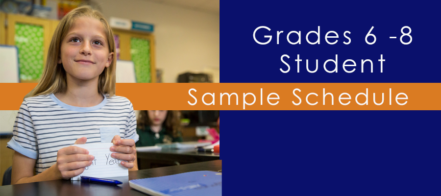 6 - 8 Student Sample Schedule