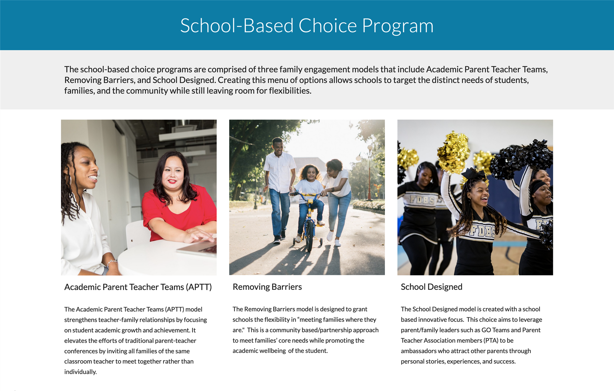 School-Based Choice Program diagram