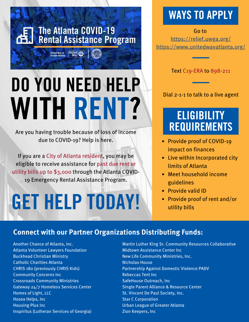 Get Help With Your Rent and Utilities Through the ERA Program