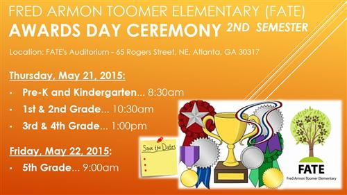 Awards Day - Save the Dates
