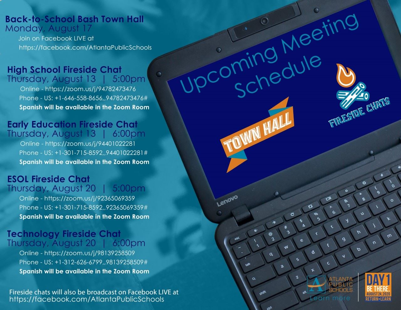 Upcoming Town Hall Meetings and Fireside Chats