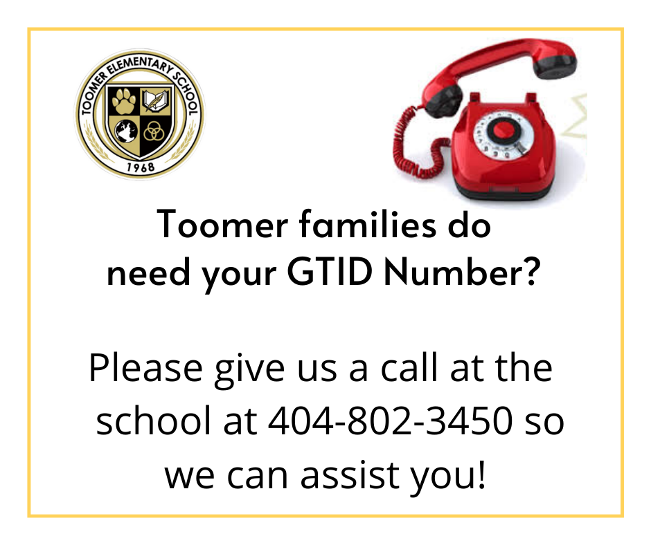 Call us for your GTID number.