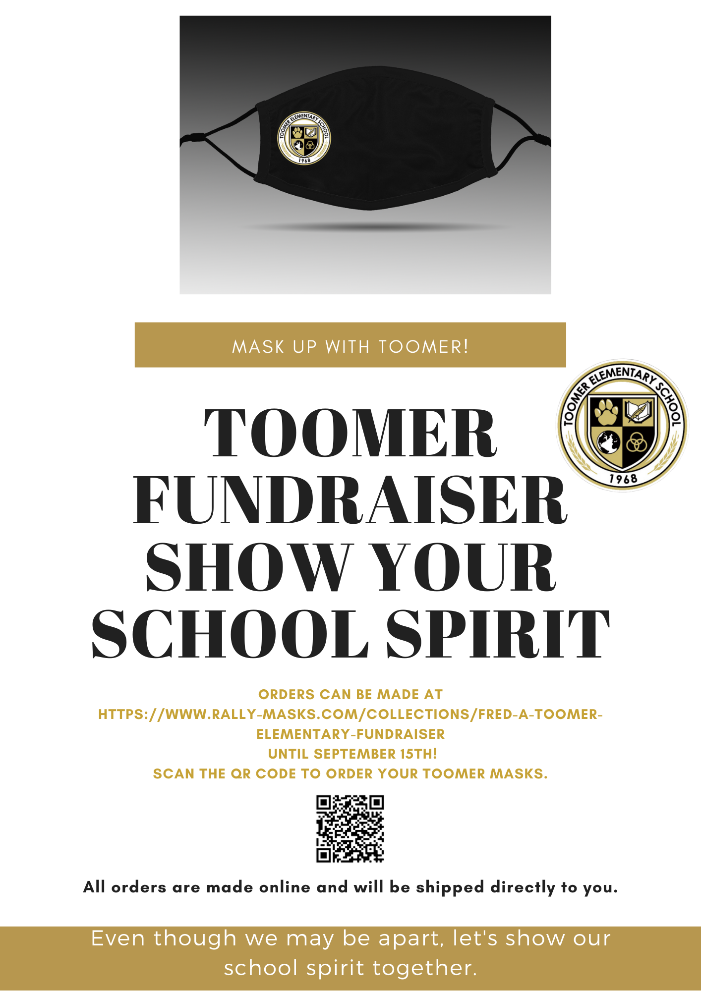 Mask Up with Toomer! Order your mask today!