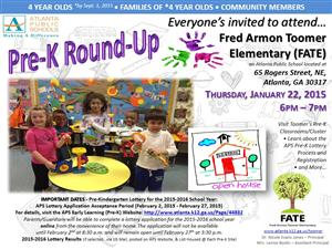 FATE Pre-K Round-up 1-22-15 at 6PM