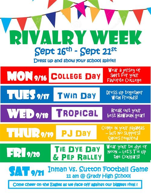 Rivalry Week - Sep 16th - 21st