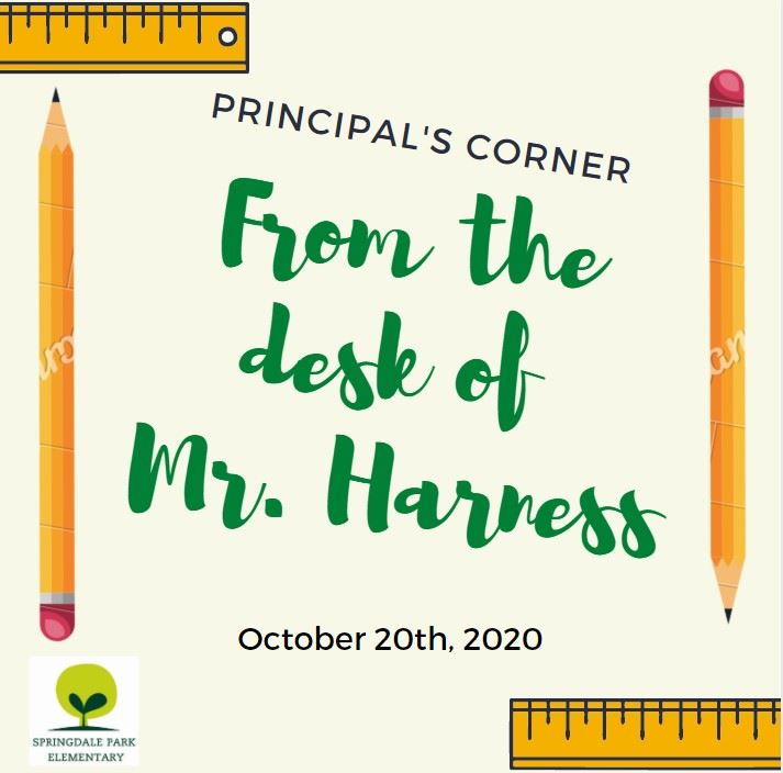 A message from Principal Harness - October 20th