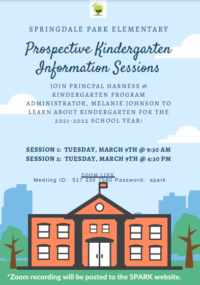 Kindergarten Information Sessions