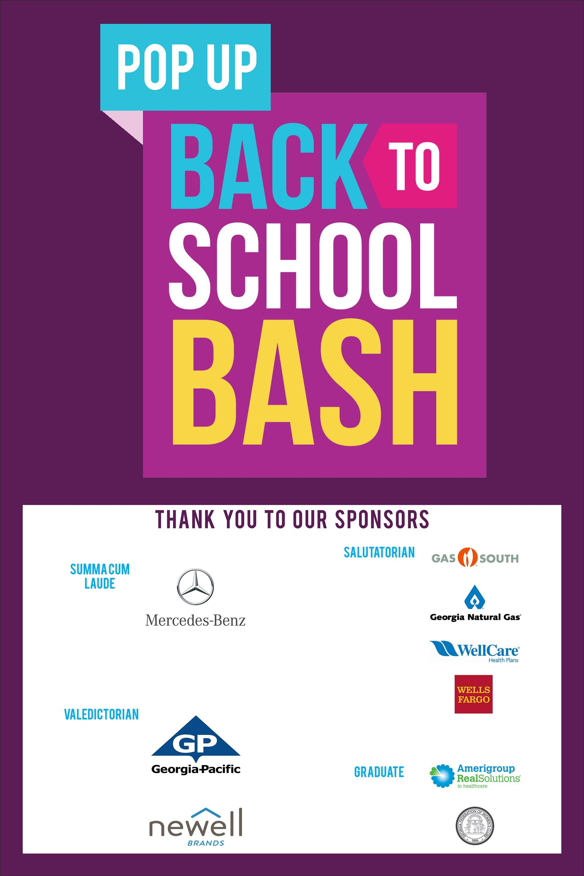 Back to School Bash Sponsors