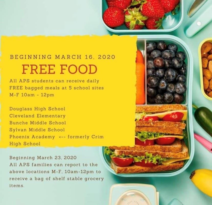 Free Meals from 10AM-12PM at Douglass High School