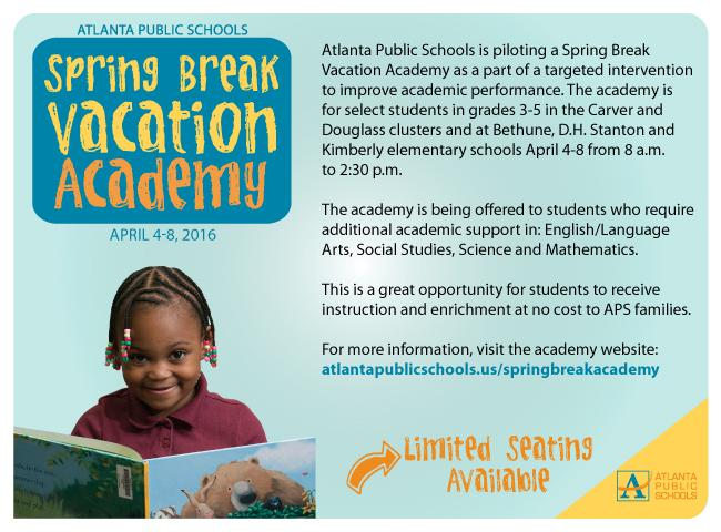 APS Spring Break Academy 2016