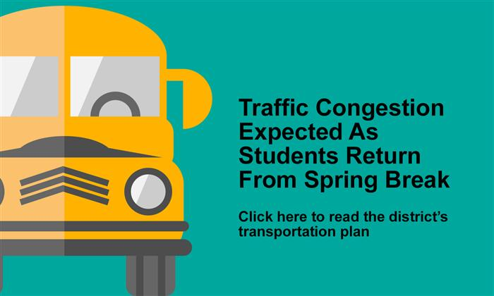 APS Bus Transportation Schedule Following Spring Break