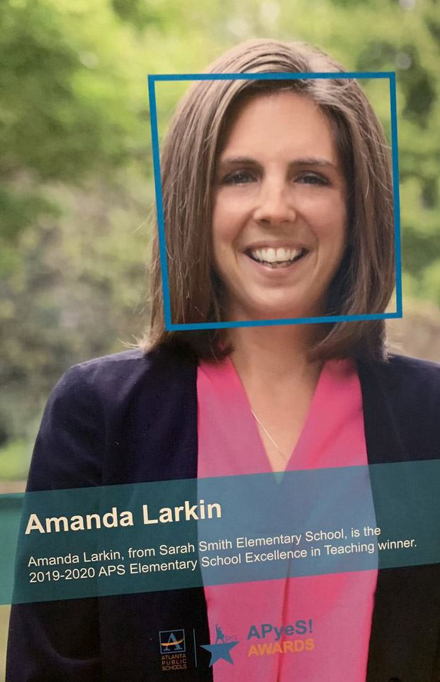 Amanda Larkin Named APS Elementary Teacher of the Year