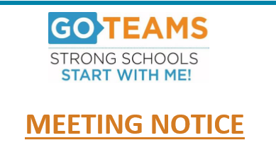 GO Team Meeting - Sept 12, 2019 at 5pm