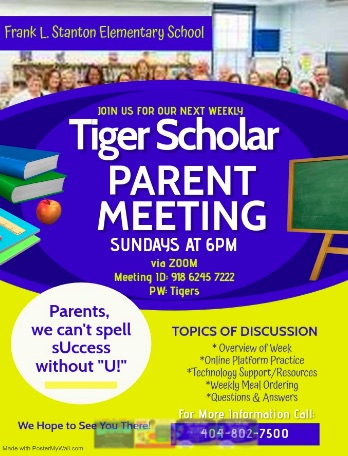 Tiger Scholar Parent Meetings