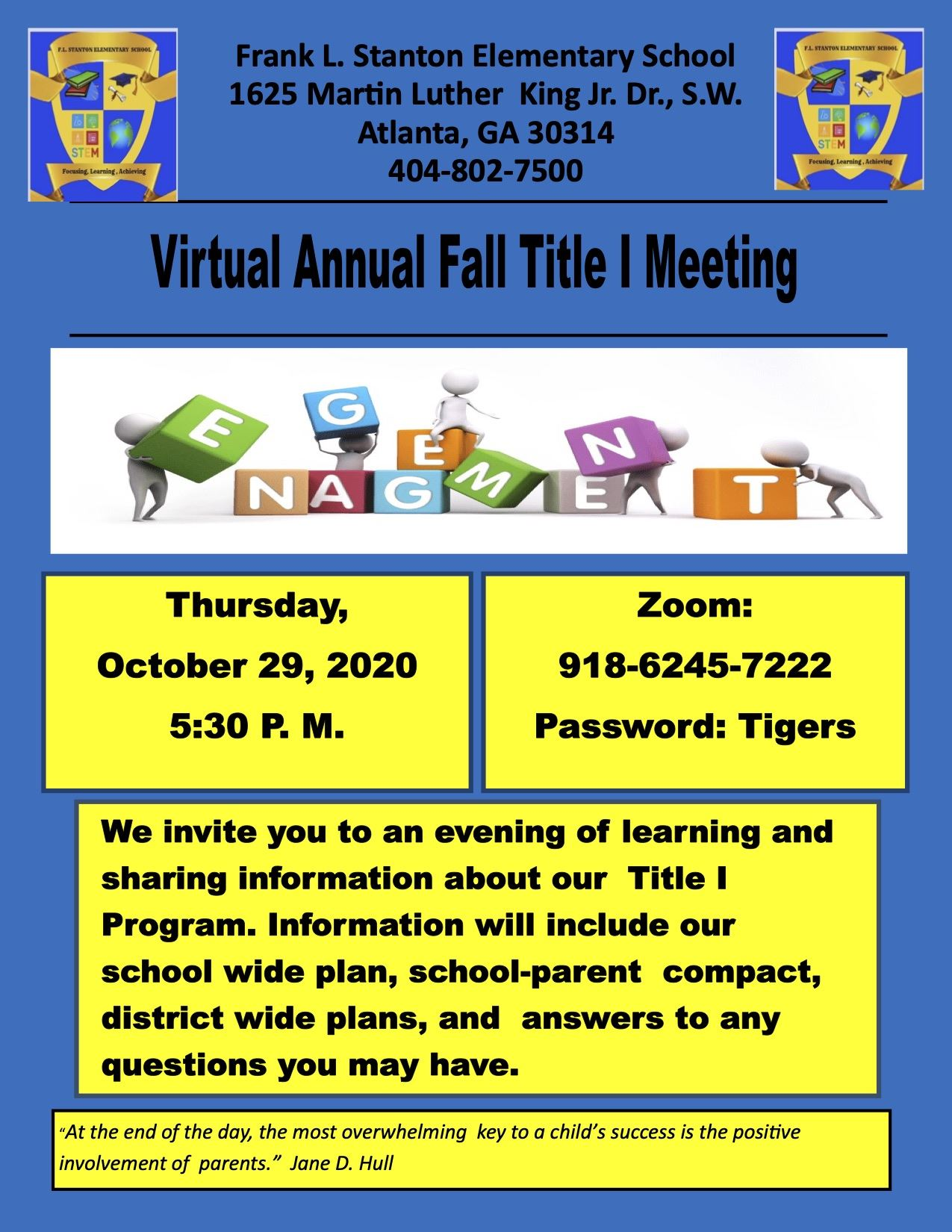 Virtual Fall Title 1 Meeting