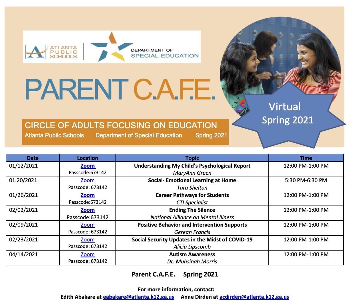 Parent CAFE Eng