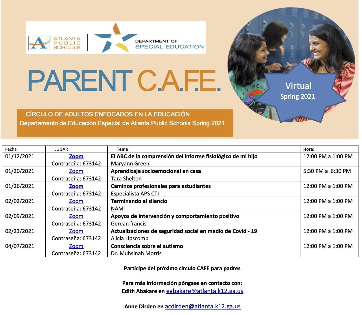 Parent CAFE Span