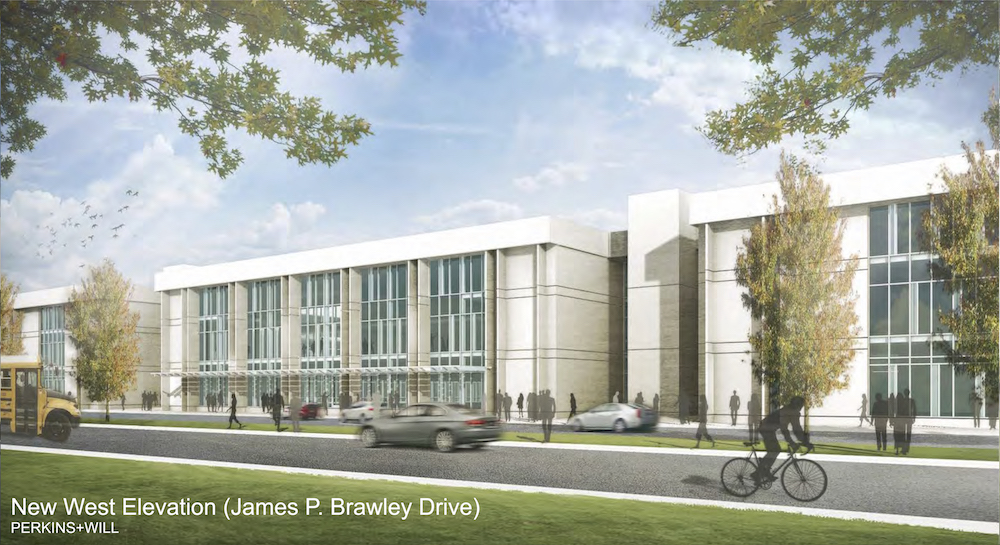 Hollis Innovation Academy renovation rendering