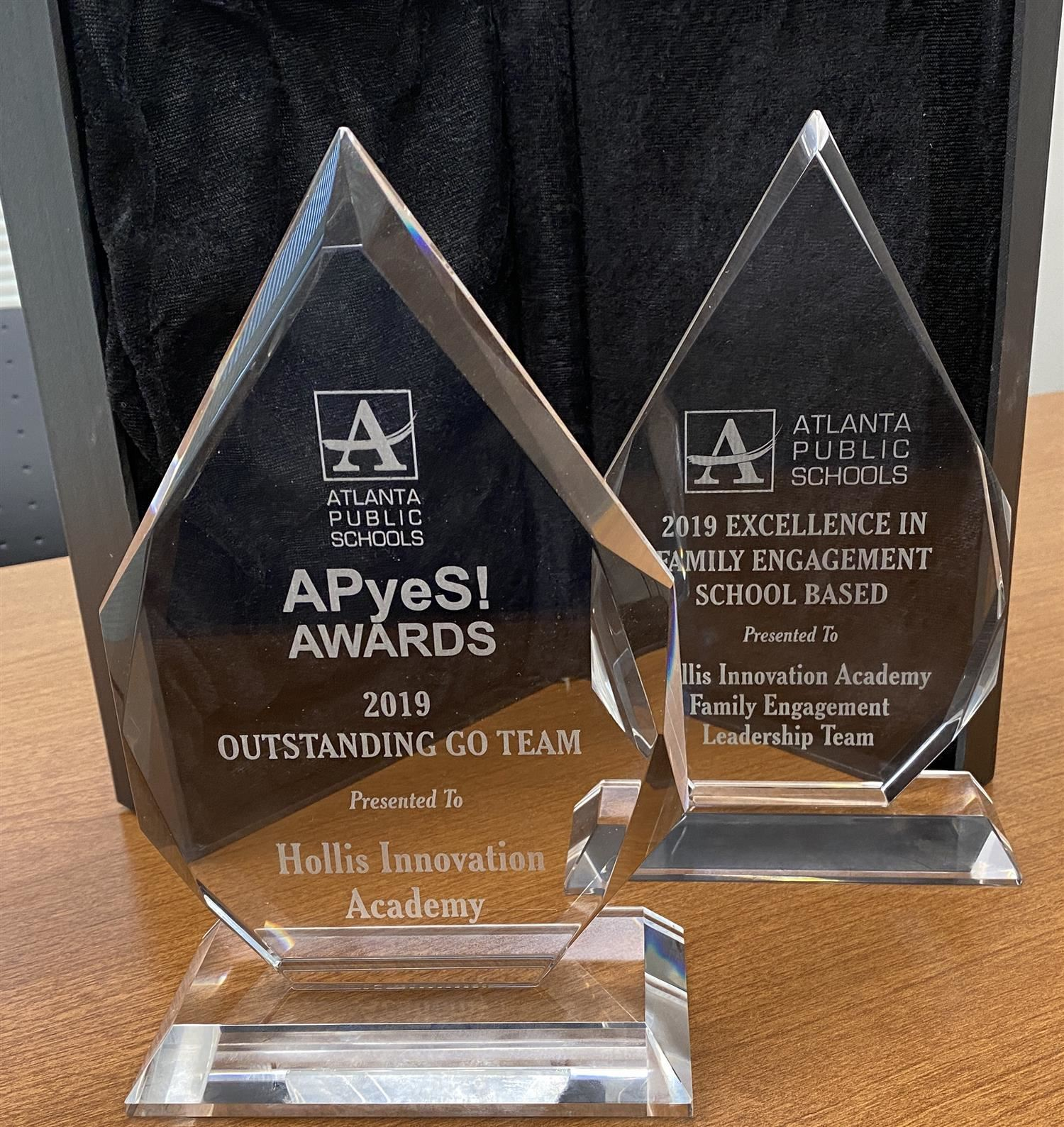 Hollis Receives 2 District Awards at the APyeS! Awards