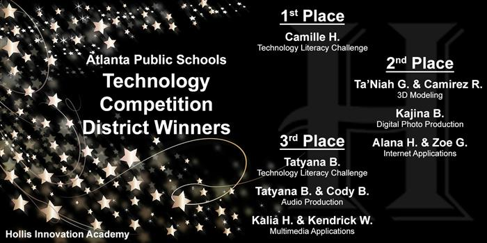 Hollis APS Technology Competition District Winners