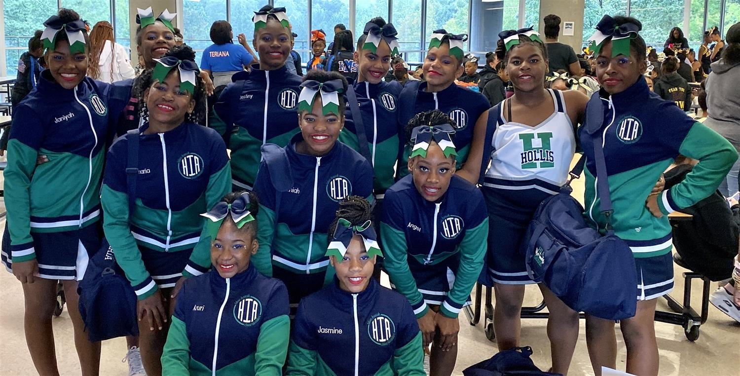 Hollis Cheerleaders Place 4th out of 16 at First Competition