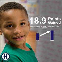 Hollis achieves an increase of 18.9 points on CCRPI score