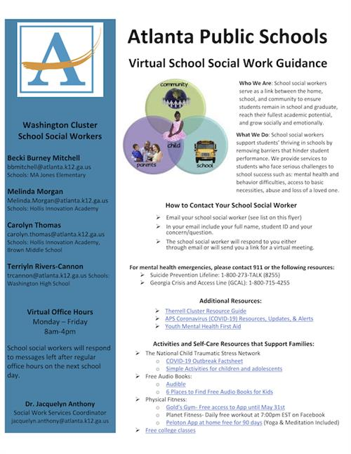 APS Washington Cluster School Social Workers