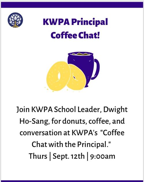 Coffee Chat with the Principal!