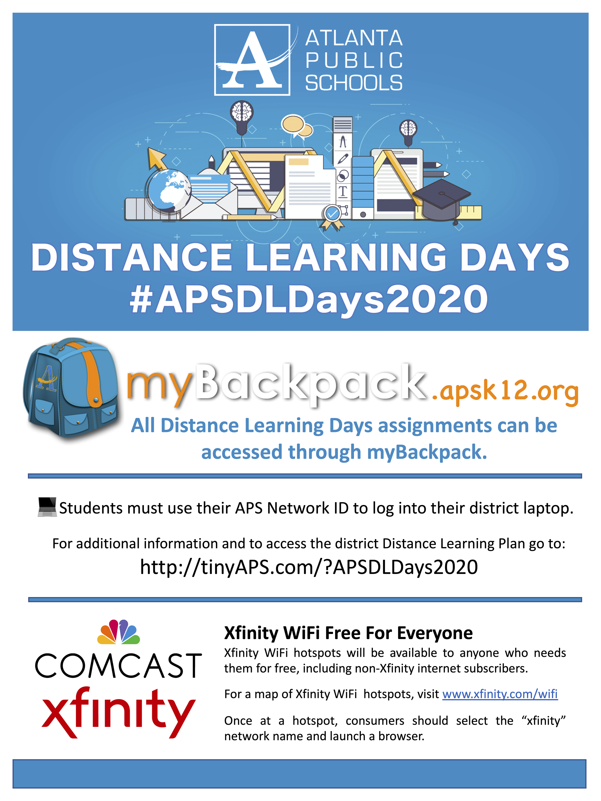 APS Distance Learning via mybackpack.apsk12.org or http://tinyAPS.com/?APSDLDays2020