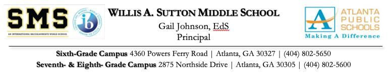 Sutton Middle School Letterhead