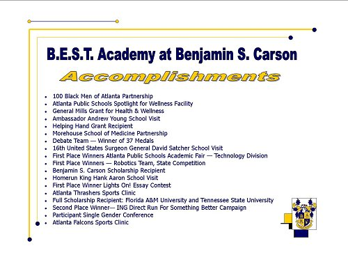 B.E.S.T. Accomplishments