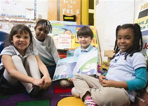 Students reading at Toomer Elementary School